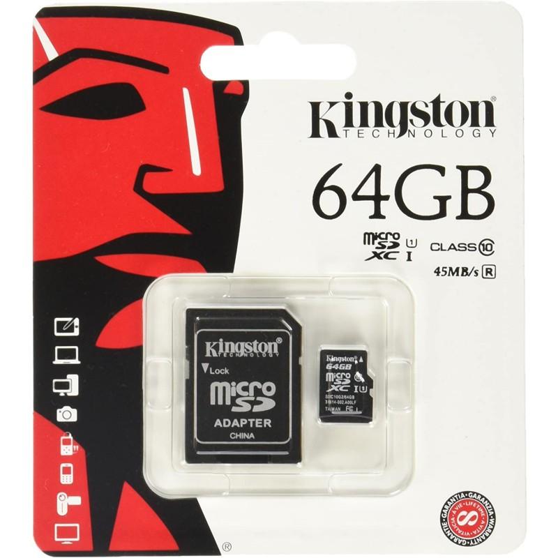 Kingstone Micro SD 64GB Class 10