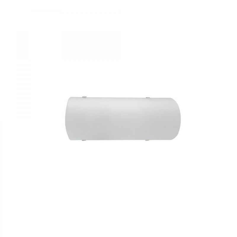 Φωτιστικό Τοίχου Μονόφωτη Απλίκα Λευκό Γυαλί
