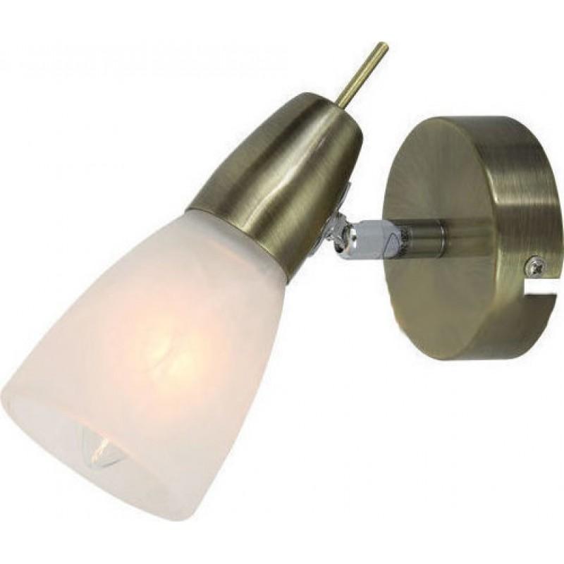 Φωτιστικό σπότ μονόφωτο  μεταλλικό με αλάβαστρο γυαλί
